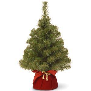 National Tree Noble Spruce Christmas Tree, 2ft - Burgundy