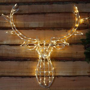 NOMA LED Wire Frame Stag Head – Warm White