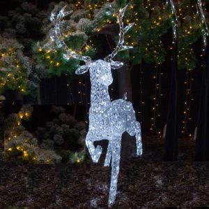 NOMA 1.4m Jewelled Reindeer LED Light Figure - White