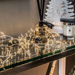 NOMA 1000 Random Twinkling Bare Wire Cluster LED Lights, Warm White - 20m
