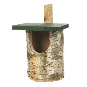 National Trust Birch Log Nest Box - Open