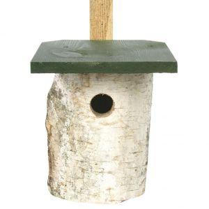 National Trust Birch Log Nest Box - 32mm Hole