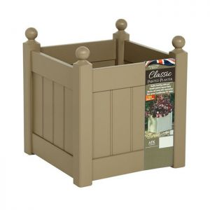 AFK Classic Square Wooden Planter, Nutmeg - 15in