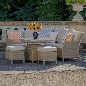 Bramblecrest Oakridge Reclining Modular Sofa Set with Adjustable Table - 6 Seater