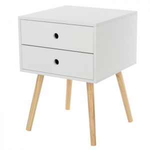 Scandia Bedside Cabinet – 2 Drawer