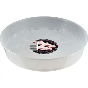 Growth Technology Orchid Saucer for Pot, 17cm - 19cm - Clear