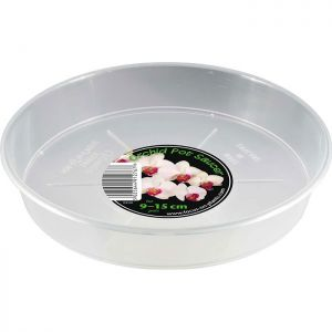 Growth Technology Orchid Saucer for Pot, 9cm - 15cm - Clear