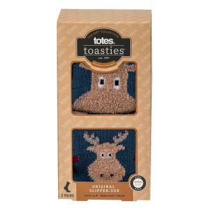 Totes Toasties Men's Original Slipper Socks, 2 Pack – Moose
