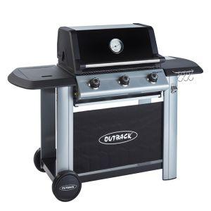 Outback Magnum 3 Burner Hybrid Barbecue with Free Regulator