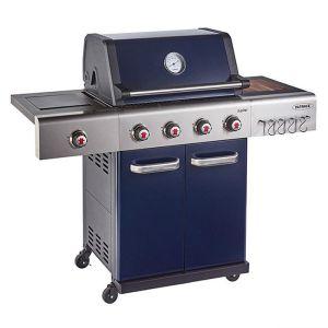 Outback Jupiter 4 Burner Hybrid Barbecue with Free Propane Regulator - Blue