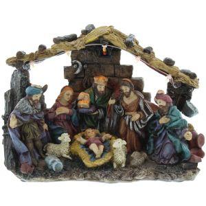 Festive Battery Operated Nativity Scene - Large
