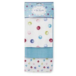 Cooksmart Tea Towels, Pack of 3 – Spotty Dotty