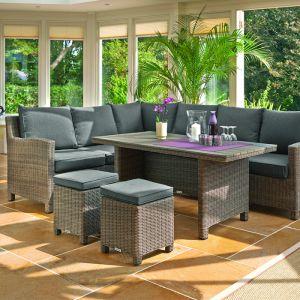Kettler Palma 8 Seater Corner Dining Set - Natural