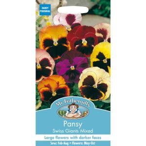Mr Fothergill's Mixed Swiss Giants Pansy Seeds