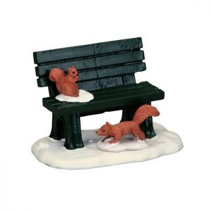 Lemax Christmas Figurine - Park Bench in Winter