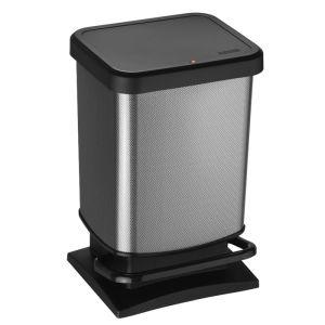 Rotho Paso Pedal Bin, 20 Litre - Carbon