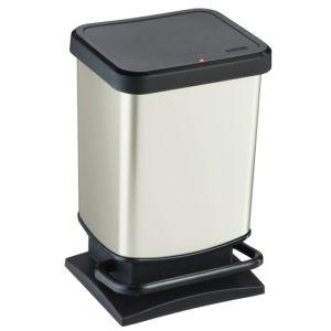 Rotho Paso Pedal Bin, 20 Litre - White