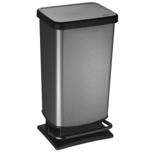 Rotho Paso Pedal Bin, 40 Litre - Carbon