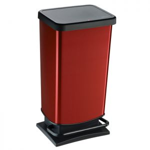 Rotho Paso Pedal Bin, 40 Litre - Red