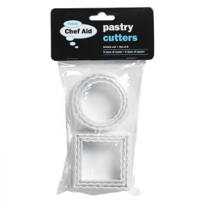 Chef Aid Crinkle Pastry Cutters - Set of 6