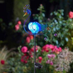 Peacock Solar Stake Light