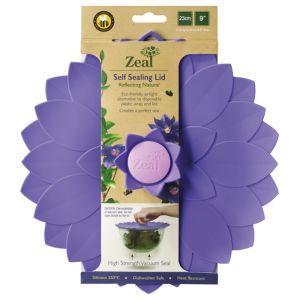 Zeal Self-sealing Petal Lid, Violet - 23cm
