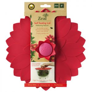 Zeal Self-sealing Petal Lid, Red - 23cm