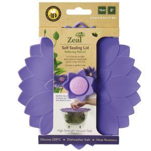 Zeal Self-sealing Petal Lid, Violet - 15cm