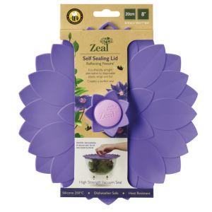 Zeal Self-sealing Petal Lid, Violet - 20cm