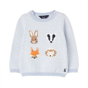 Joules Baby Peter Rabbit Ivy Knitted Jumper – Animal faces stripe