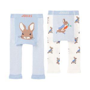 Joules Baby Peter Rabbit Lively Knit 2 Pack Leggings – Blue Rabbit Carrot