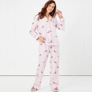 Joules Women's Sleeptight Pyjama Set – Pheasant Pink
