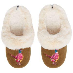 Joules Women's Slippet Luxe Slippers – Pheasant