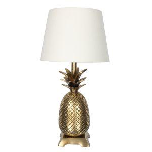 Pineapple Table Lamp, Antique Brass – 50cm