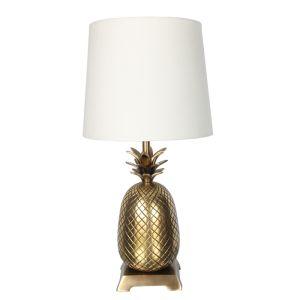 Pineapple Table Lamp, Antique Brass – 58cm