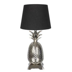 Pineapple Table Lamp, Nickel – 50cm