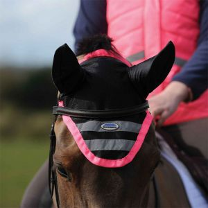 Weatherbeeta Reflective Ear Bonnet – Pink
