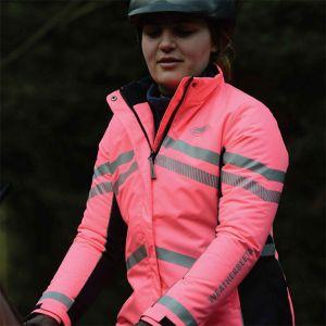 Weatherbeeta Reflective Heavy Padded Waterproof Jacket – Pink