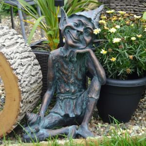 Home & Garden Sitting Pixie Garden Ornament