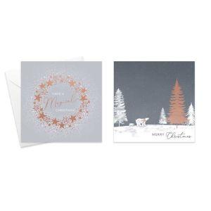Polar Bear & Wreath Christmas Cards - Pack of 10