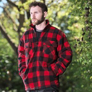 Fort Workwear Men's 126 Portman Fleece Shacket – Red Check