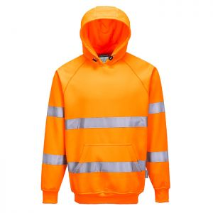 Portwest B304 Hi-Vis Hooded Sweatshirt – Orange