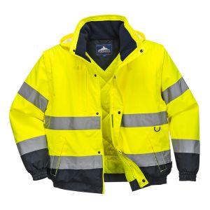 Portwest C468 2-in-1 Hi-Vis Bomber Jacket – Yellow