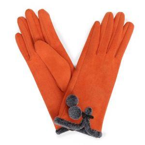 Powder Designs Amelia Faux Suede Gloves - Tangerine