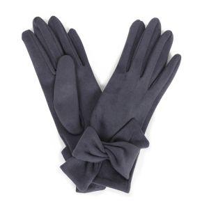 Powder Designs Henrietta Faux Suede Gloves - Charcoal