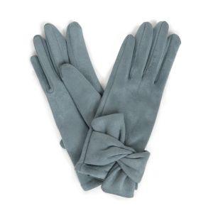 Powder Designs Henrietta Faux Suede Gloves - Denim