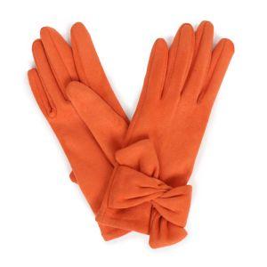 Powder Designs Henrietta Faux Suede Gloves - Tangerine