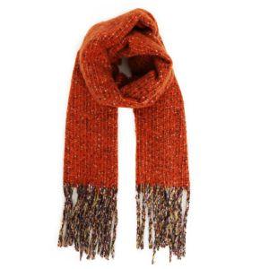 Powder Designs Sandie Knitted Scarf - Tangerine