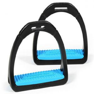 Shires Compositi Premium Profile Stirrups - Childs, Bright Blue