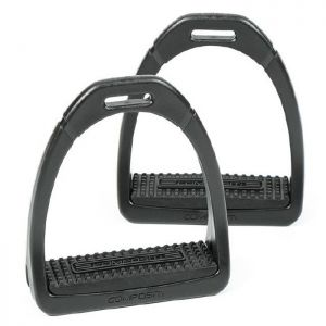 Shires Compositi Premium Profile Stirrups - Childs, Black